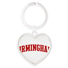 BIRMINGHAM (red) Heart Keychain