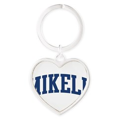MIKELL design (blue) Heart Keychain