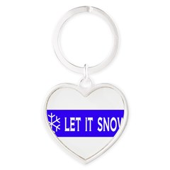 Think Snow Heart Keychain