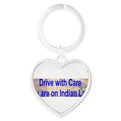 Native American-BS Heart Keychain