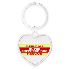 DUTCH SHEPHERD DOG Heart Keychain