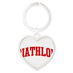 Biathlon (red curve) Heart Keychain