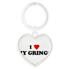 I Love MY GRINGO Heart Keychain