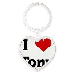 I Love Tony Heart Keychain
