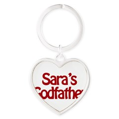 Sara's Godfather Heart Keychain