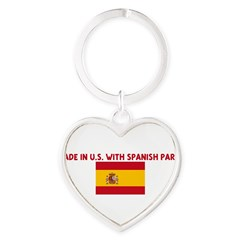 MADE IN US WITH SPANISH PARTS Heart Keychain