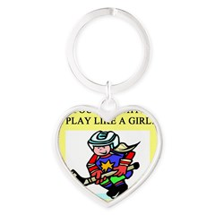hockey gifts t-shirts Heart Keychain