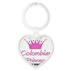 Colombian Princess Heart Keychain