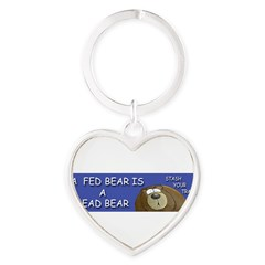 BEAR Heart Keychain