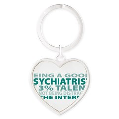 Good Psychiatrist Heart Keychain