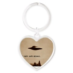 X-Files - We Are Not Alone Heart Keychain