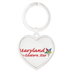 Maryland Eastern Star Heart Keychain