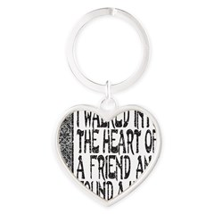 HEART OF A FRIEND Heart Keychain