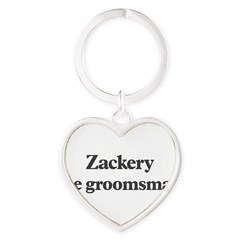 Zackery the groomsman Heart Keychain