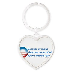 Anti-Obama Because Heart Keychain