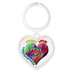 Peace Love Togetherness Heart Keychain