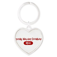 Treeing Walker Coonhound mom Heart Keychain