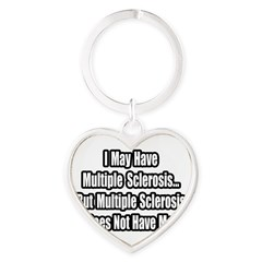 """Multiple Sclerosis Quote"" Heart Keychain"
