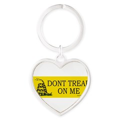 Dont tread on me Heart Keychain