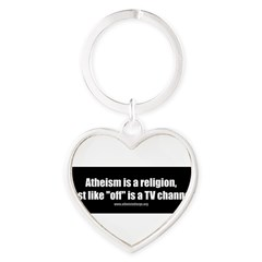 Atheism TV Heart Keychain
