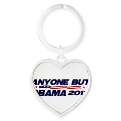 Anyone But Obama Heart Keychain