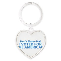 I Voted For The American Heart Keychain