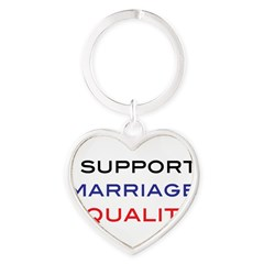 marriage Heart Keychain