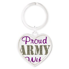 Army Purple Home/Office Heart Keychain