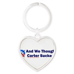 Anti-Obama Heart Keychain