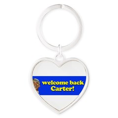 Welcome Back Carter Heart Keychain