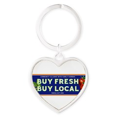 Buy Fresh Buy Local classic Heart Keychain