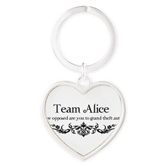 Team Alice Theft Heart Keychain