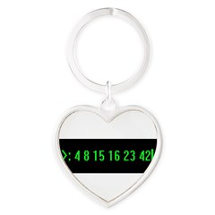 Numbers Heart Keychain