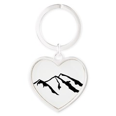 Mountains Heart Keychain