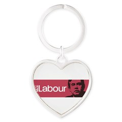 Gordon Brown Labour Party Heart Keychain