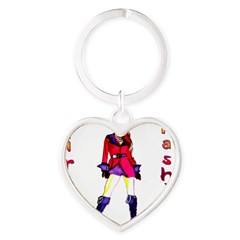 Pirate Fashion Heart Keychain