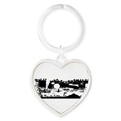 Lost Island White Heart Keychain