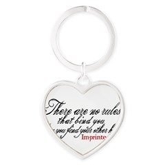 No rules bind Imprinted Heart Keychain