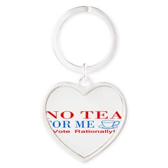 NO TEA FOR ME Heart Keychain