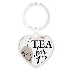 Vote Tea Party 2012 Heart Keychain
