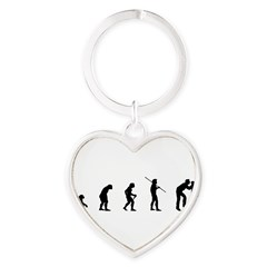 Photog Evolution Heart Keychain