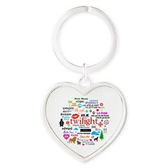 Twilight Memories Heart Keychain