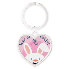 Year of the Rabbit Heart Keychain