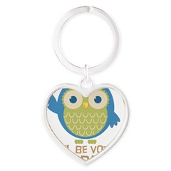 Owl Be Voting for Obama Heart Keychain