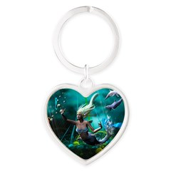 Best Seller Merrow Mermaid Heart Keychain