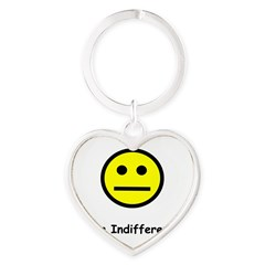 Have an Indifferent Day (Y) Heart Keychain