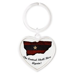 the Central Shall Rise Again Heart Keychain