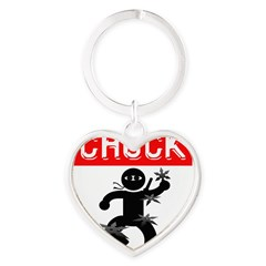 Chuck Ninja Man 4 Throwing St Heart Keychain