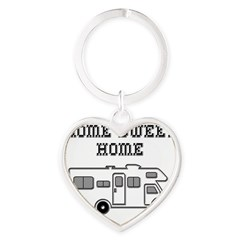 Home Sweet Home Mini Motorhome Heart Keychain