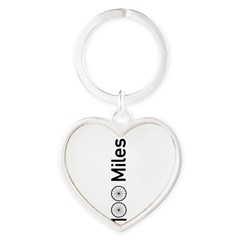 Century Ride Heart Keychain